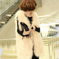 Women's Genuine Ostrich Feather Fur Vest Tacchino Feather Fur Waistcoats Turkey Fur Vest Best Sale