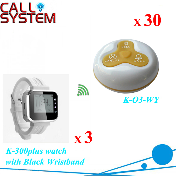 Restaurant equipment for sale wireless waiter buzzer call pager Guest paging system 3 watch 30 transmitters 4 watch pager receiver 20 call button 433mhz wireless calling paging system guest call pager restaurant equipment f3258