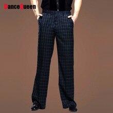 2018 New Man Latin Dance Pants British Wind Square Dancing Mens Ballroom Dance Pants Plaid Pants Men'S Latin Pants DQ6047