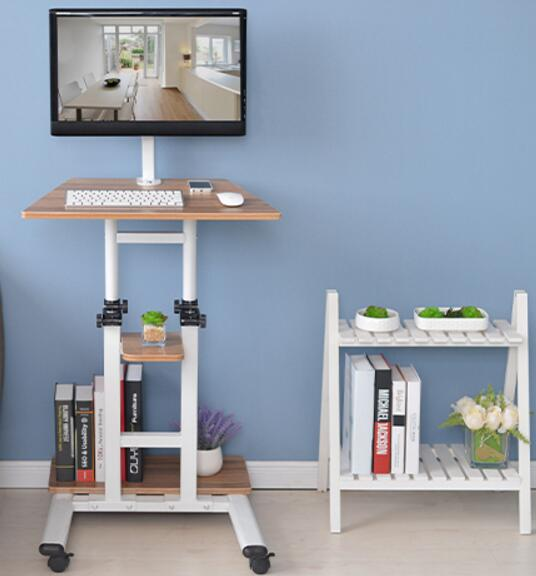 Multifunctional household computer computer desk standing mobile lazy table can freely lift table. multifunctional moving laptop desk sofa bedside ps stand lazy lift full motion mobile computer table