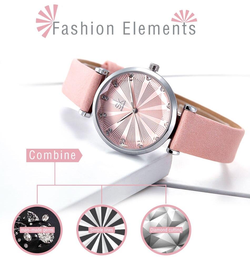 SK Luxury Brand Leather Ladies Wrist Watches Women Prism Quartz Watch For SHENGKE Female Clock reloj mujer 2019 relogio feminino (2)