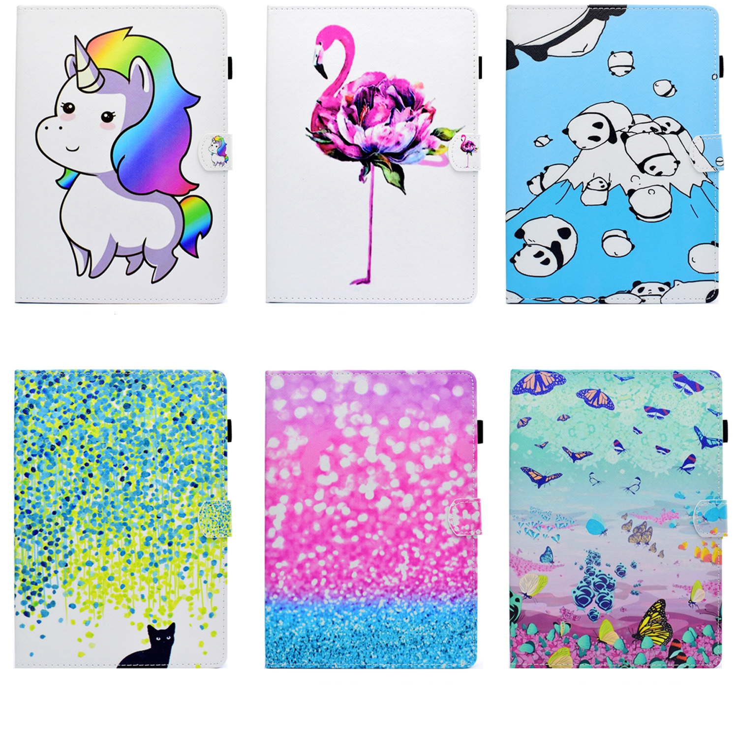 Misolocat Tablet Case for Samsung Galaxy Tab A 10.1 T580 Flip Cover Stand Funda Protective Capa Auto Sleep Animal Cute Cat Panda luxury flip stand case for samsung galaxy tab 3 10 1 p5200 p5210 p5220 tablet 10 1 inch pu leather protective cover for tab3