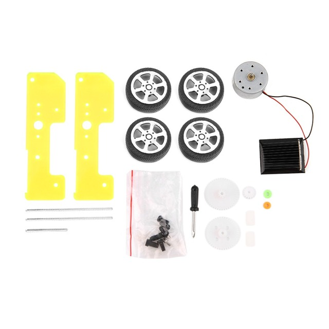 2017 1pc Self assembly Solar Mini Cars Kit Educational Solar Power Car DIY Toy Assembled Puzzle Toys Car For Kid boy gril Gift