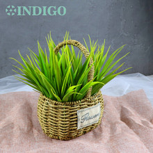 Waterproof Outdoor Chypre Plastic Orchids Leaves Free Shipping Table Green Decoration Artificial Flower Shopping Mart Party