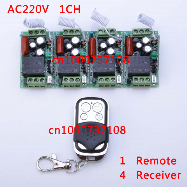 AC 220V 10A RF smart home automation with remote controller 220V 1ch power switch with learning code and CE certification
