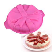 Silicone 3D Cake Mold Pastry Big Bow DIY Fondant Mould Bread Dessert Decoration Muffin Brownie Pudding Bakeware Baking Tools silicone pudding mold cake pastry baking round jelly gummy soap mini muffin mousse cake decoration tools bread biscuit mould