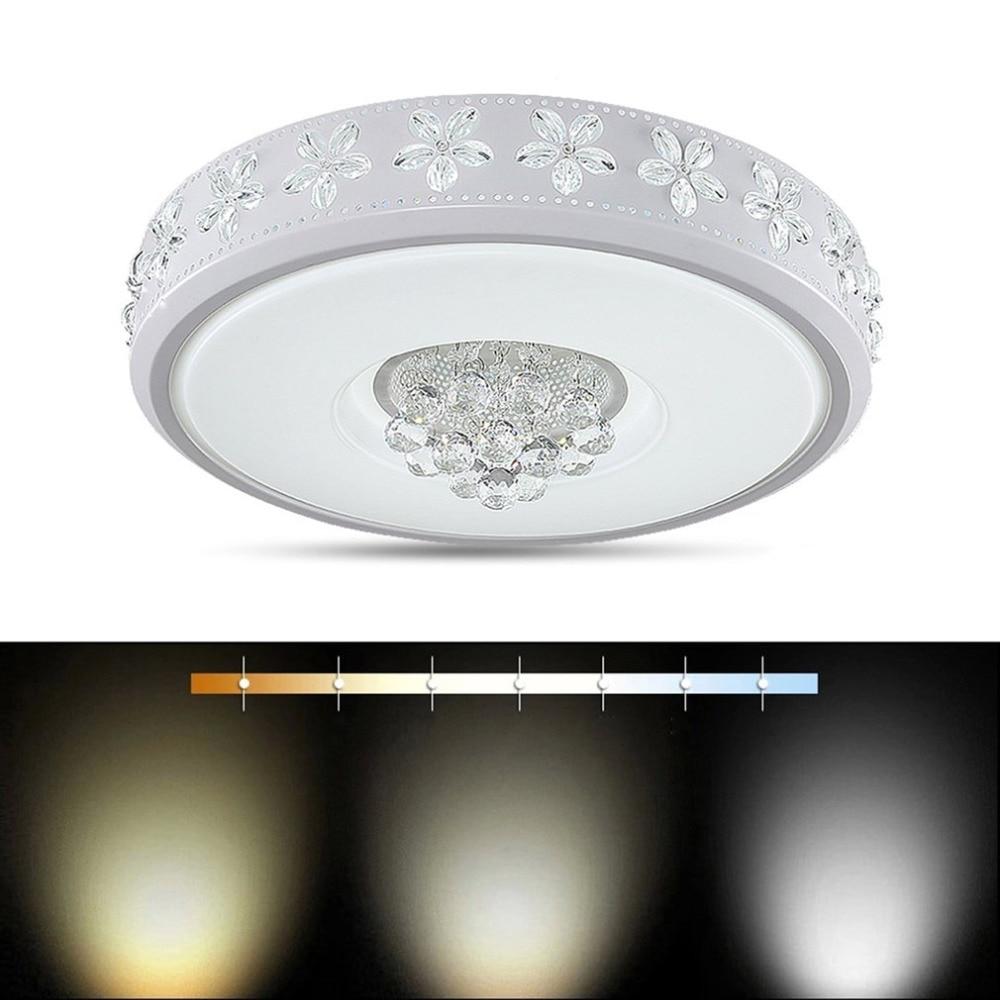 цена на ICOCO Super Bright Acrylic LED Ceiling Lamp Cherry Blossom Downlight Round Shape Crystal Pendant Home Decoration Light HOT SALE