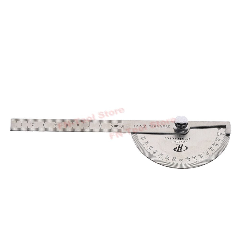 Stainless Steel 180 Degree Protractor Angle Finder Measuring Ruler Woodworking  Tools