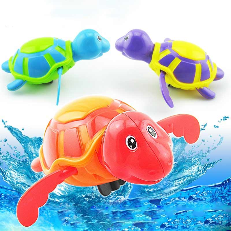 Hot Selling Play Turtles Water Kids Bath Pool Tub Animals Sounding Toys Swim Clockwork 8 ...