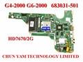 Original 683031-501 para hp pavilion g4 g6 g4-2000 g6-2000 683031-001 motherboard da0r53mb6e1 rev: e mainboard 90 dias de garantia