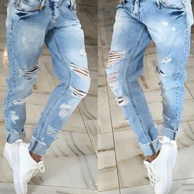 f7c7d32b20e4 2017 New luxury CosMaMa Brand designer fashion zippers all denim skinny fit  pleated biker jeans boyfriend for women blue