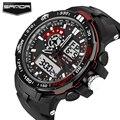 SANDA Esporte Relógios Homens De Luxo Da Marca Sports Digital relógios de Pulso Militar Mergulhador À Prova D' Água Parada Alarme Relógio Relogio masculino