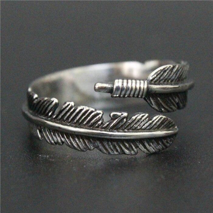 1 stück Neueste Design Top Qualität Unisex 316L Edelstahl Modeschmuck Feder Ring