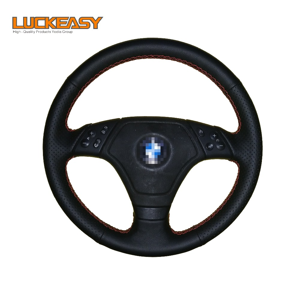 Black Artificial Leather Car Steering Wheel Cover for BMW E36