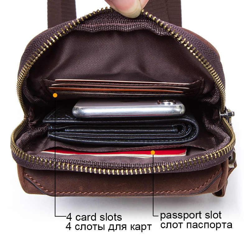 CONTACT'S 100% homens pacote de cintura de couro genuíno para o telefone celular titulares de cartão de bolsa de ombro bolsa de viagem pequenos sacos crossbody bolsas