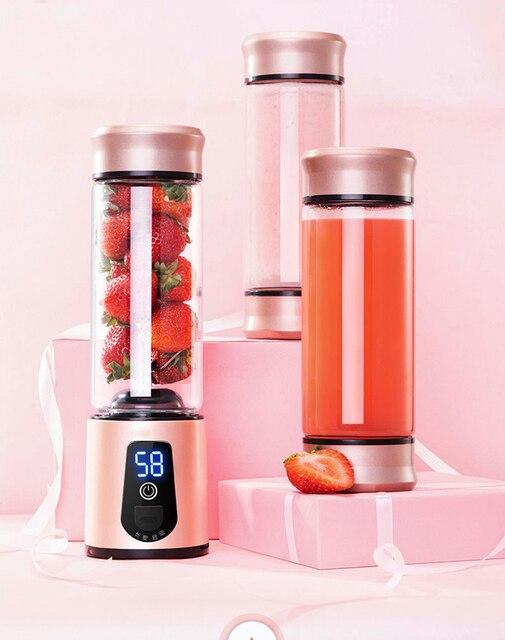 נייד חשמלי מסחטה בלנדר USB מיני פירות מערבלי מסחטות פירות מסחטות מזון מילקשייק מיץ תכליתי יצרנית מכונה