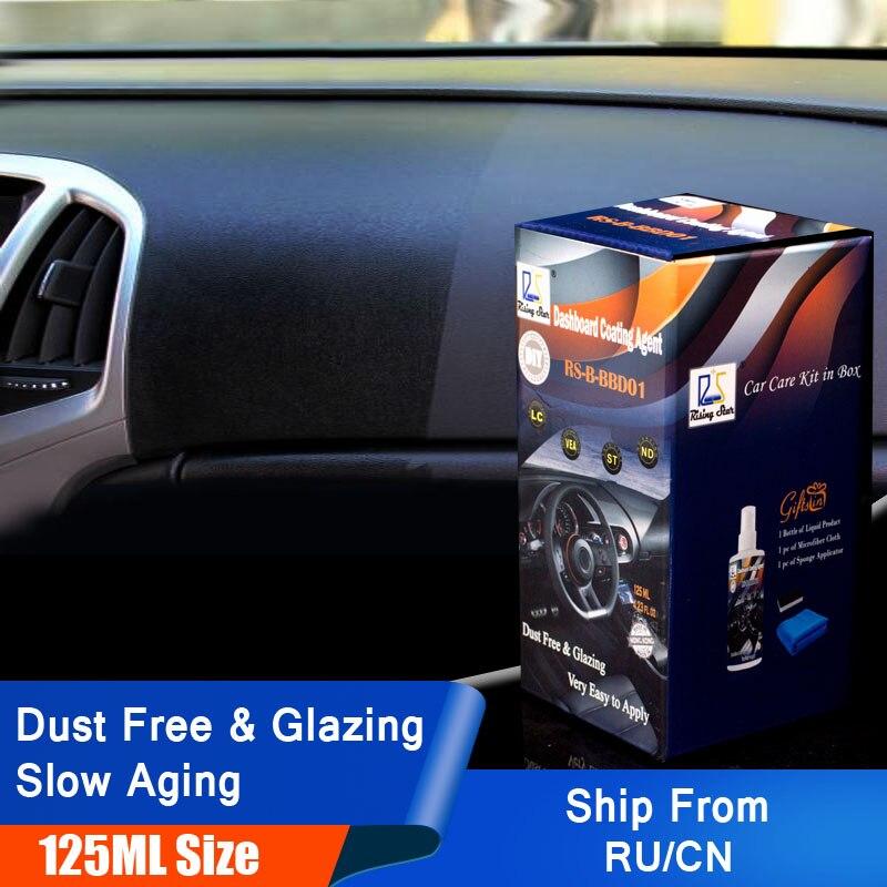 Rising Star RS-B-BBD01 Vinyl und Trim Verglasung Anti-Uv Schützen Vor Verblassen und Rissbildung Dashboard Beschichtung Mittel 125 ml Kit