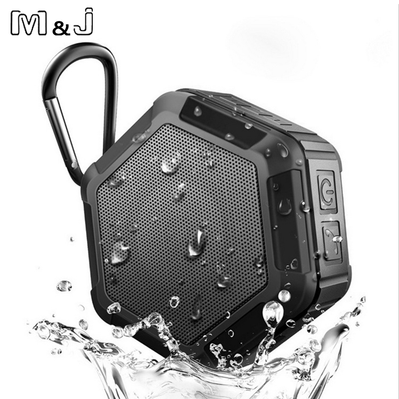 M & J Work in Water Tragbarer drahtloser Bluetooth-Lautsprecher Subwoofer Leistungsstarker IP65 Outdoor-Sport-MP3-Player Musik Lautsprecher Bass