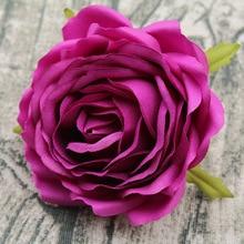 8 см полные розы головы искусственные цветочные для DIY работы Свадебные украшения