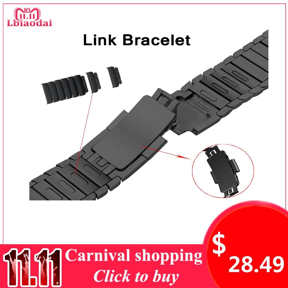 Bracelet En Acier inoxydable pour Apple montre bande 42mm 38mm 44mm 40mm Lien Bracelet Bracelet Correas pour iwatch 4/3/2/1 boucle en métal