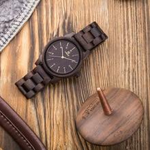 UWOOD עץ שעון גברים קוורץ שעונים איש רטרו גלם סנדל עץ שעונים לגברים הבעל מתנה במבוק שעון Vingate יד שעונים