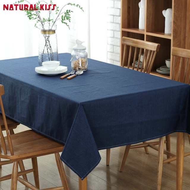 High Quality Solid Color Cotton U0026 Linen Table Cloth Printed Rectangular  Table Cover For Home Festival