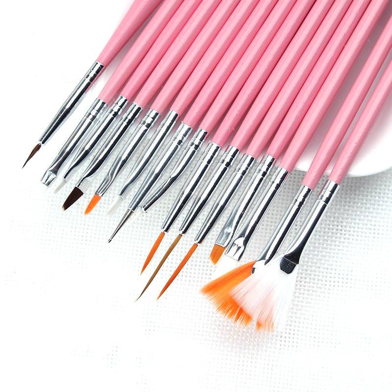 15pcs New Nail Art Design Painting Tool Pen Polish Brush ...