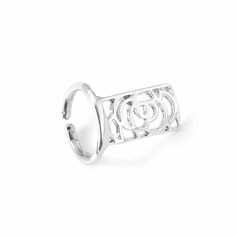 Sieraden Plum vijfpuntige Ster Vingernagels Leuke Ring Nail Art Stickers Hollow Rose Snake Armor Vrouwelijke Ring