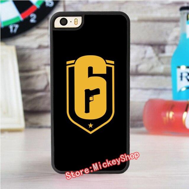 new concept bd453 e4ea6 US $6.99  Rainbow Six Siege Operation Black Ice 2 fashion case for iphone 4  4s 5 5s SE 5c for 6 & 6 plus 6S & 6S plus #V0718 on Aliexpress.com   ...