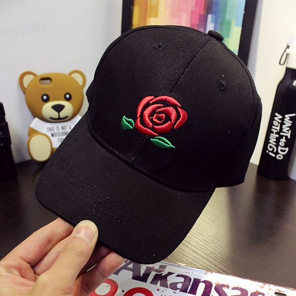 New Arrival Brand  Rose Snapback Baseball Cap Palace Adjustable Hip Hop Hats For Men And Women Strap Back Casquette brand new blvd supply snapback baseball cap red basic adjustable original cap hip hop cap