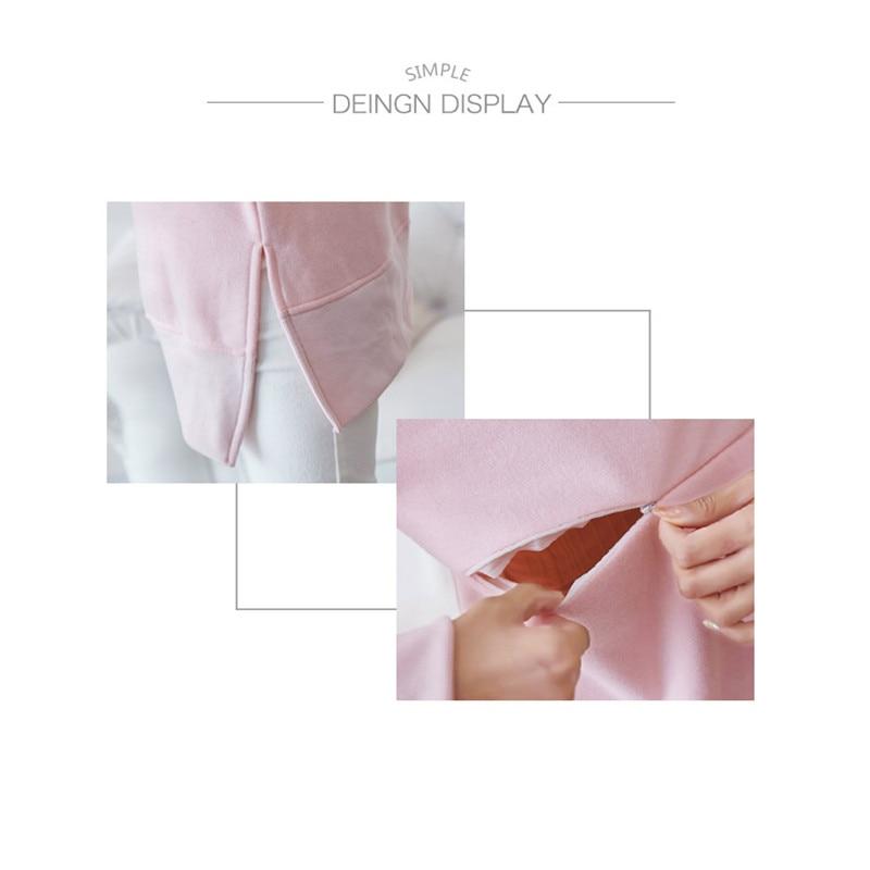 Kemeja Tee Bersalin Longgar Baju Keperawatan Tops untuk Menyusui Ibu - Kehamilan dan bersalin - Foto 6