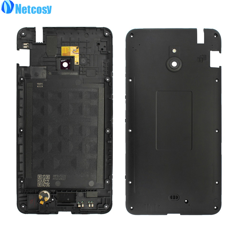 Netcosy For <font><b>Nokia</b></font> Lumia <font><b>1320</b></font> Black color Housing Middle Frame Bezel replacement <font><b>parts</b></font> For <font><b>Nokia</b></font> Lumia <font><b>1320</b></font> Middle Plate Cover image