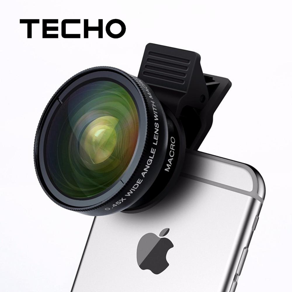 TECHO 2 IN 1 Universal Clip Holder HD Mobile Phone Lenses