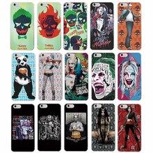 Suicide Squad Harley Quinn Jared Leto Joker Comics Panda Cartoon Black Hard Phone Case For iPhone 7Plus 7 6Plus 6 6S 5 5S SE 4