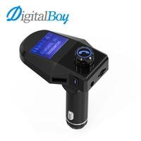 Carro Transmissor FM Handsfree Chamada Aux Car Audio Player Do Carro Do Bluetooth MP3 Player de Música Cancelamento de Ruído Dupla USB Carregador de Carro