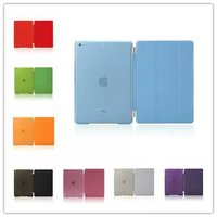 For Apple Ipad Air Ipad 5 PU Leather Magnetic Front Smart Cover Crystal Hard Back Case