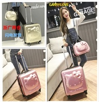 CARRYLOVE Hellokitty luggage series18/ 20/24inch PC Handbag and Rolling Luggage Spinner brand Travel Suitcase