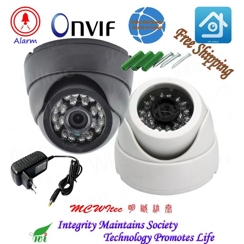 HD 1080 p Double Couleurs Shell En Option IP Extérieure Caméra de Sécurité ONVIF IR Cut Nuit Vue IP Cam Alarme de Mouvement RTSP Caméra Dôme
