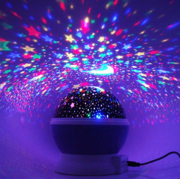 Newest Led Night Light Projection Lamp With Rotating Moon