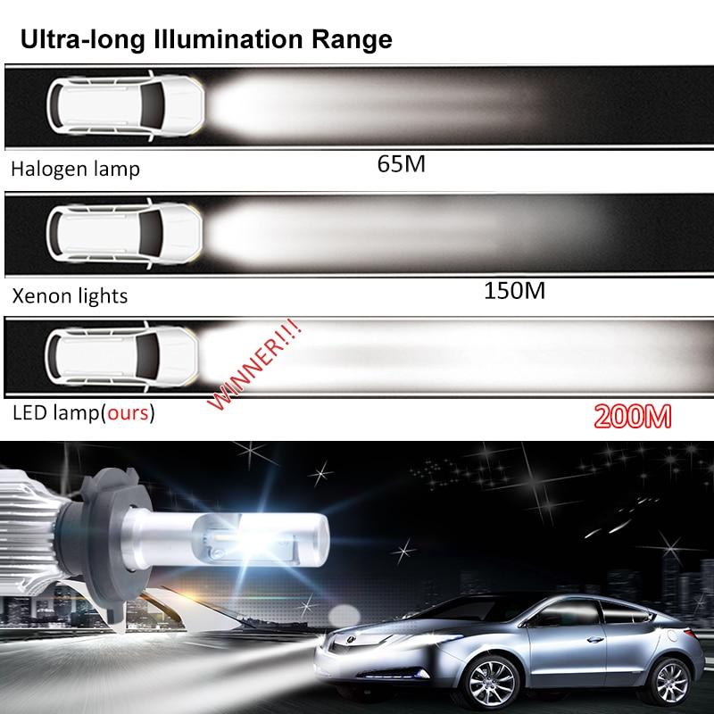 """""""AcooSun H4 H7 LED"""" automobilių priekiniai žibintai 12V H1 - Automobilių žibintai - Nuotrauka 6"""