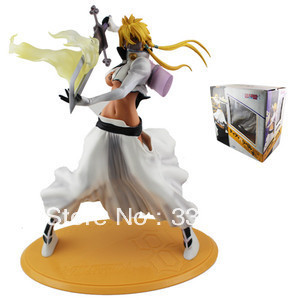 "Anime Bleach Sexy Girl Figurine Arrancar Tercera Espada Tear Halibel 9.2"" PVC Action & Toy Figures free shipping(China)"