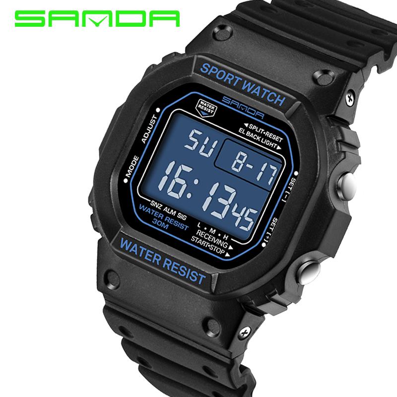 Prix pour 2017 sanda sport montre femmes hommes amant de numérique led montre de mode reloj mujer dames montres femmes étanche relogio masculino