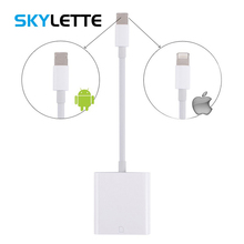 купить Combo SD TF Card Reader Digital Camera Kit Compatible OTG Adapter Cable For iPhone iOS 9.2-12 iPad Android Device Needn't APP дешево