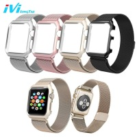 Milan Case Strap For Apple Watch 3 1 2 Band 38mm 42mm 2 In 1 Stainless