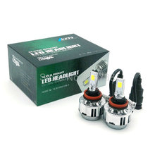 1 pair 66W 6000lm H8 H9 H11 cob Car Automotives Headlight kit bulb led Fog lamp DRL with Fan Play & Plug H7 HB3 HB4 9005 9006
