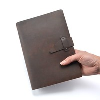 High end Quality Business Leather Notebook A5 Cowhide Cover Refillable Journal Diary Loose Leaf Sketchbook Planner Free Shipping