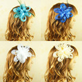 Wholesale bride gauze hair headdress women fancy feather fascinator bridal feather wedding party cocktail hair clip Hairpin