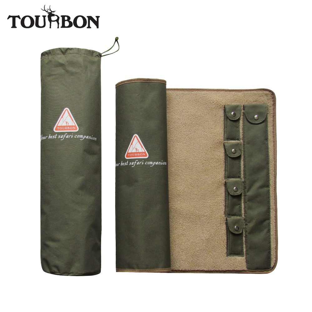 Tourbon Hunting Shooting Accessories Gun Rifle Cleaning Mat with Fleece Universal Cleaning Care Kit Equipment 105.5*51.5cm shooting equipment gun pistol adapter for motion controller ps3 move