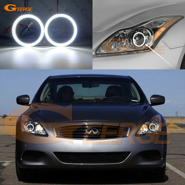 For Infiniti G37 Coupe Q60 Xenon Headlight 2008 2015 Smd Led Angel