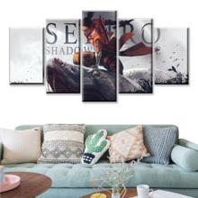 5 Piece SEKIRO Shadows Die Twice Games Art Print Canvas Paintings Wolf Ninja Picture Decoration Wall for Home Decor3